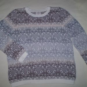 SIZE: LARGE--EARTH TONE COLORS PULLOVER SWEATER